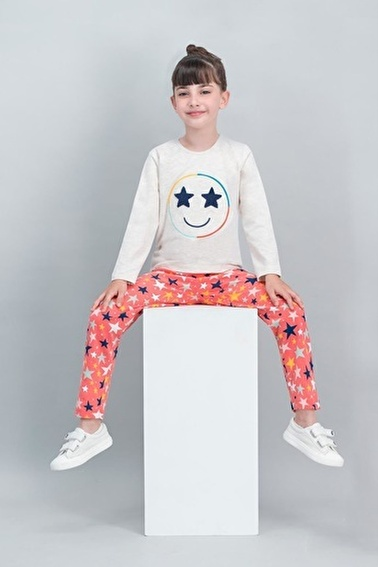 Roly Poly Rolypoly Star Face Kremmelanj Kız Çocuk Pijama Takımı Krem